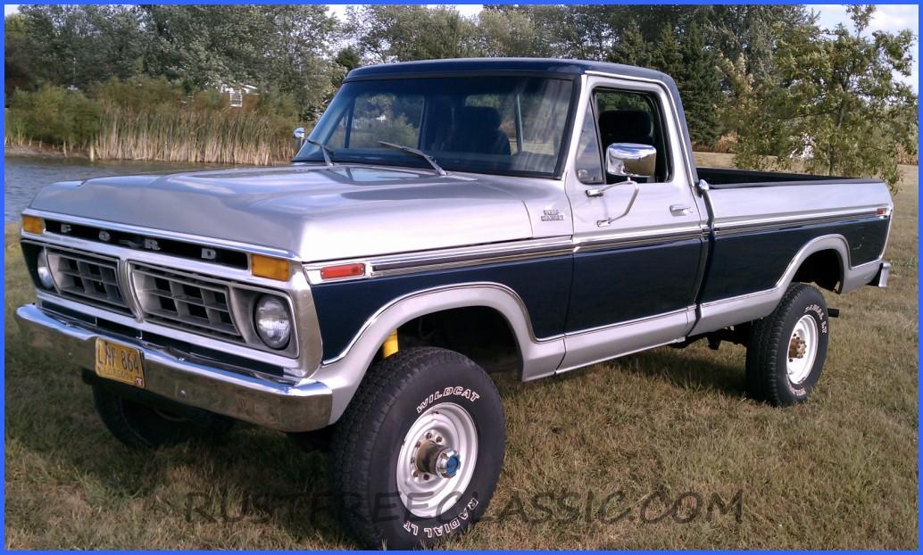 1977 f250 highboy hb ranger 400 a t blue silver redone